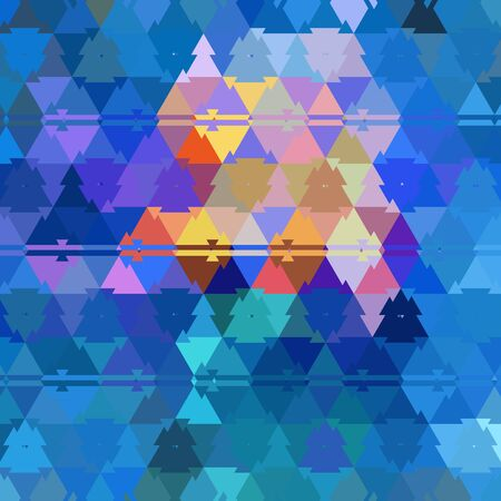 abstract of pealing paint in shades of blue flaky wall surface with pink purple and turquoise colors in triangulation cubist style designs
