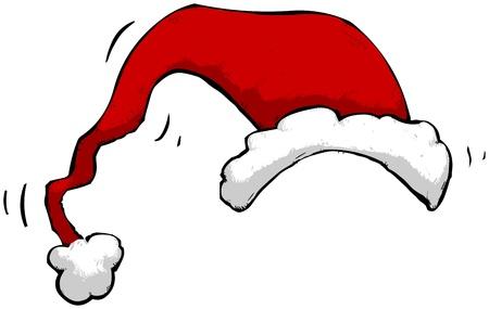saint nicholas: Ilustraci�n de un sombrero de Pap� Noel. 1001 usos.