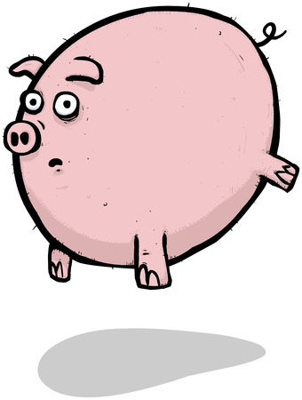 boor: Illustration of a flying pig full of lies and deceit