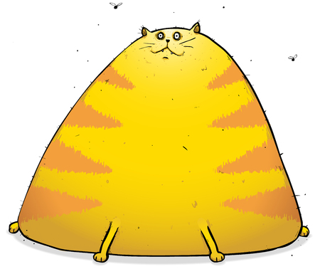 Illustration of Eggy the fat cat looking... well... quite fat and puzzled.