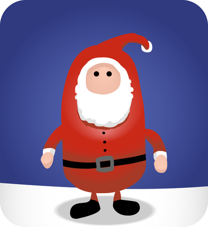 Illustration of a simple, no frills santa.