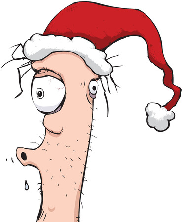 Illustration of the guy who always gets drunk at the christmas office party.