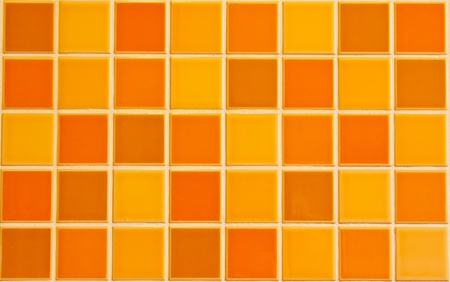 ceramic: Orange tile texture Stock Photo