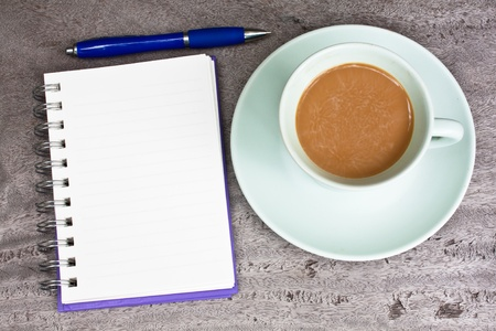 Coffee and notebook Stock Photo - 9799358