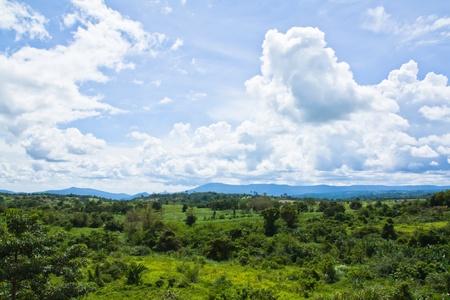 wang: Monta�a y cielo en Wang Nam kiao, de Nakhon Ratchasima, Tailandia