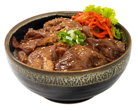 yakiniku: beef rice bowl Stock Photo