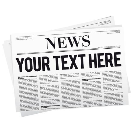 Newspaper with location for customization