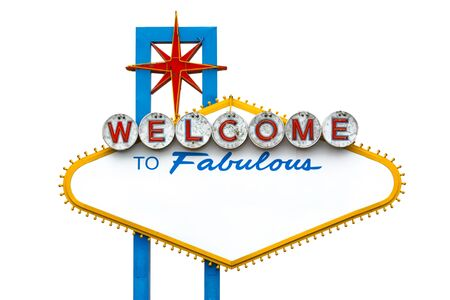 Welcome to fabulous Las Vegas sign - empty Imagens