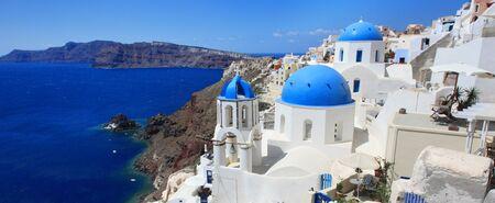 Typische Ansicht von Santorini, griechische Insel (Europa)