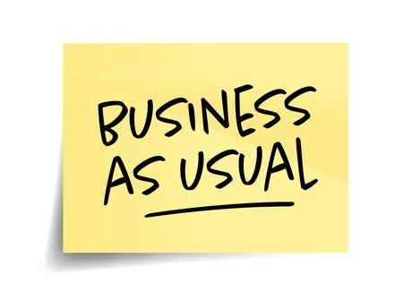Business as usual on yellow sticks Vektoros illusztráció