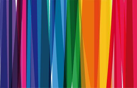 Horizontale achtergrond van kleurrijke regenboogkleurige verticale strepen Vector Illustratie