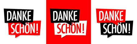 Danke schön, thank you very much in german language 向量圖像