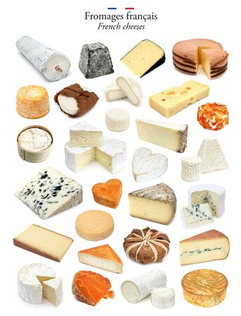 Set of traditional cheeses of France Zdjęcie Seryjne