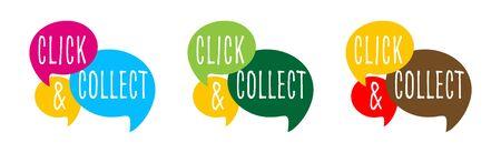 Click and collect Vektorgrafik