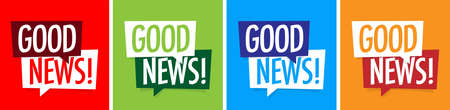 Good news on speech bubble Illusztráció
