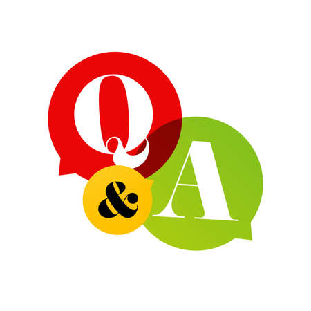Q&A on speech bubble