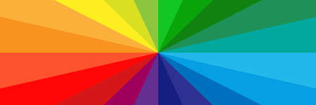 Vector background with multicolored rays