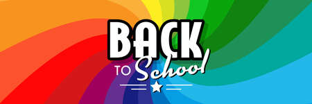 Back to school on colorful background