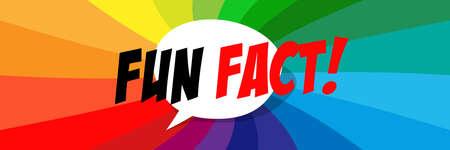 Fun fact on speech bubble