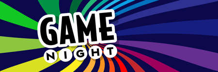 Game night on radial stripes background Vettoriali
