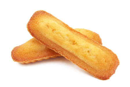 Long Madeleine / Famous French pastry 免版税图像