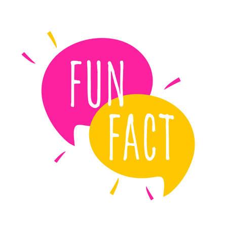 Fun fact on speech bubble Vector Illustration