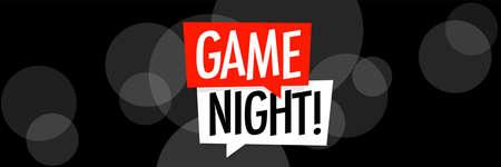 Game night on black background 矢量图像