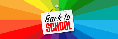 Back to school on colorful background Archivio Fotografico - 153759213