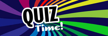 Quiz time on multicolored background