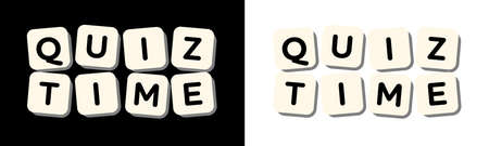Quiz time on board games token 矢量图像