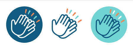 Set of Pictograms clapping hands Vettoriali