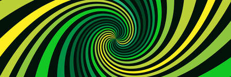 Long background with green spirals