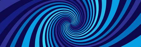 Long background with blue spirals 矢量图像