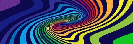 Background with soft, wavy rainbow colored spirals