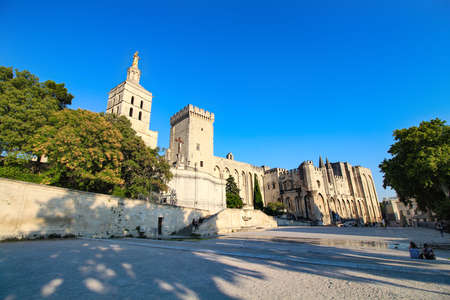 Palace of the Popes of Avignon in the South of France