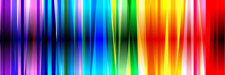 Horizontal banner of colorful rainbow colored vertical stripes 矢量图像
