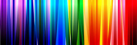 Horizontal banner of colorful rainbow colored vertical stripes Vettoriali