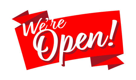 We are open on red ribbon