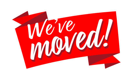 We have moved on red ribbon Vettoriali