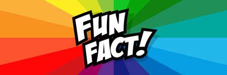 Fun fact! on radial stripes background
