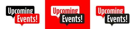 Upcoming events on speech bubble