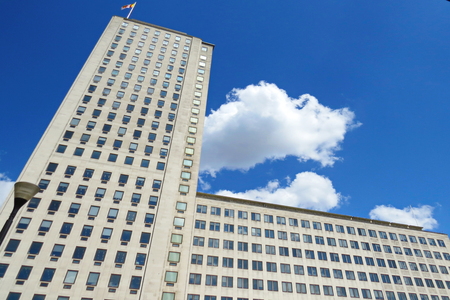 Business Office, Corporate building in London City, England, UK Stock Photo