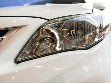 Selective focus point on Headlight lamp car