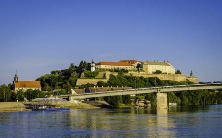 Petrovaradin fortress on a sunny day, Novi Sad, Serbia 스톡 콘텐츠