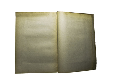 Open old yellow blank book page