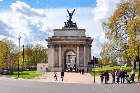 LONDON, UK - CIRCA APRIL 2017: Wellington Arch (Constitution Arch) in London