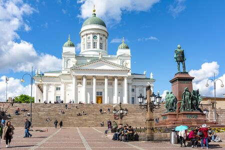 Helsinki Cathedral on Senate Square, Finland Editorial