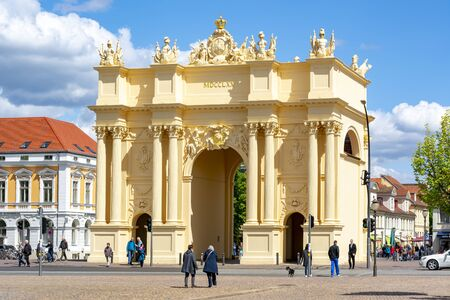 Brandenburg Gate (Brandenburger Tor) in center of Potsdam, Germany Editoriali