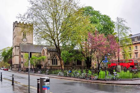 Oxford, UK - April 2018: Streets of Oxford town in spring