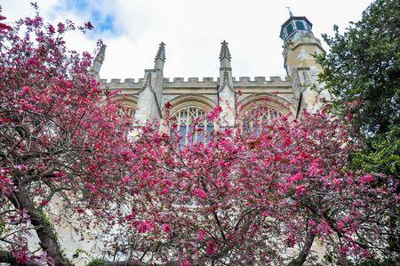 Eton College Chapel in spring, UK